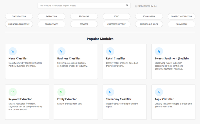 Public and ready-to-use modules