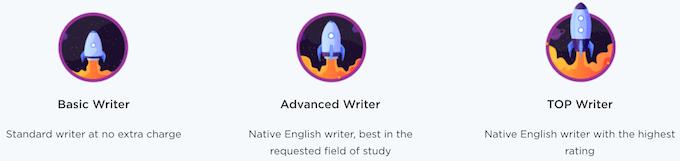 paperhelp.org has 3 writers categories
