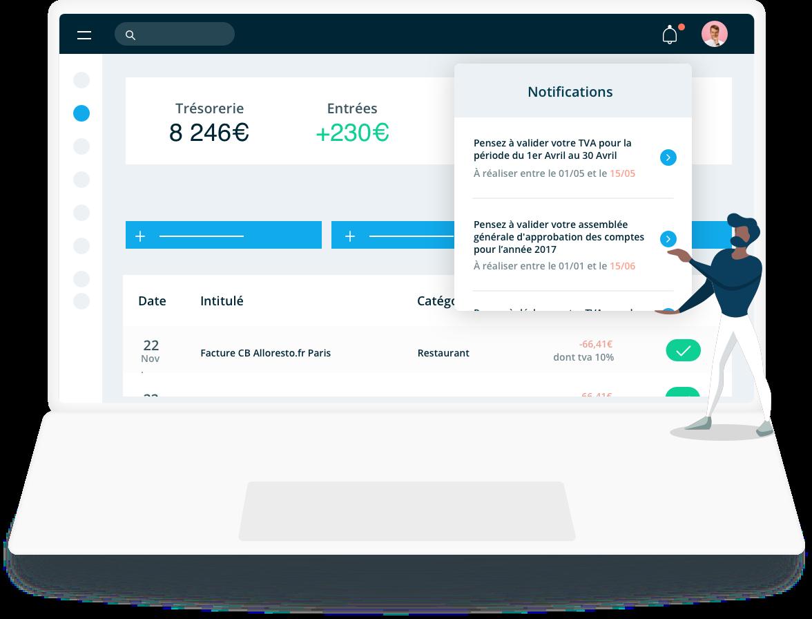 Suivi et accompagnement comptable en temps réel