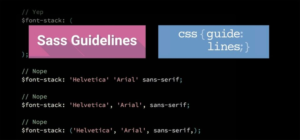 sass guidelines and css guidelines