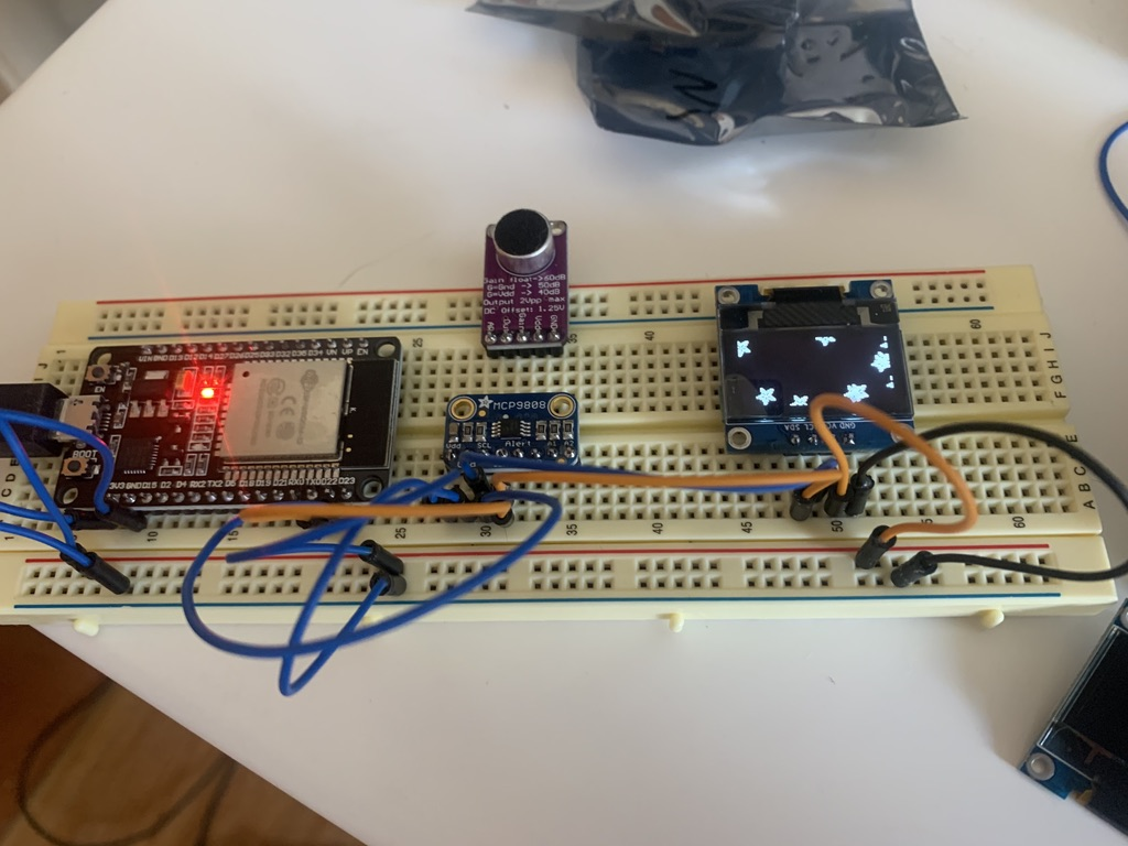 New components on a breadboard working