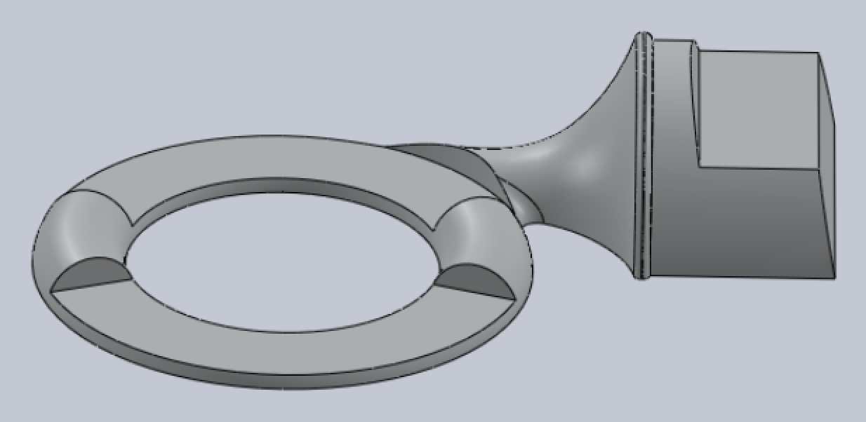 CAD model of the top of the pattern with core print