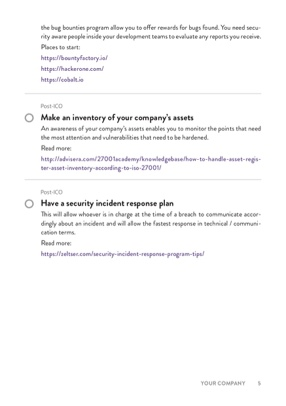 ICO Security Checklist page 2