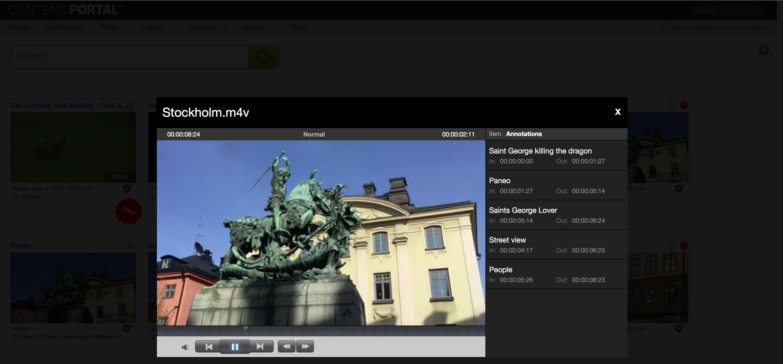 Cantemo Portal HTML5 video player