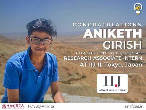 aniketh-girish-selected-as-research-at-intern-iij-japan's image