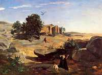 Hagar in the Wilderness, by Camille Corot in 1835