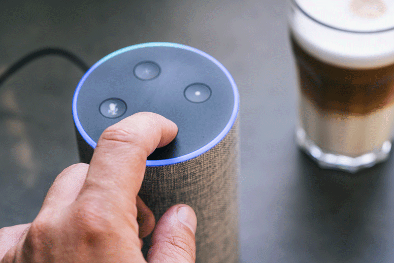 An Amazon Echo smart speaker