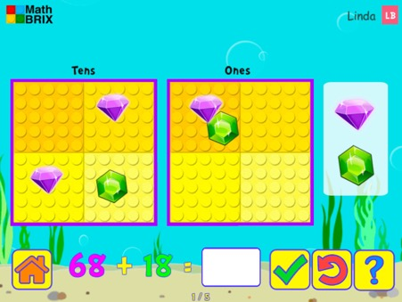 Minicomputer: Addition up to 100 (carrying) Math Game