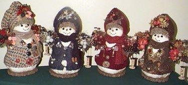 hand crafted snow men doll