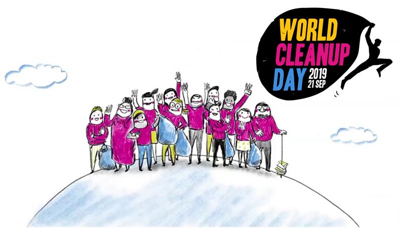 Imagem em destaque para o artigo: World Cleanup Day: conheça essa iniciativa