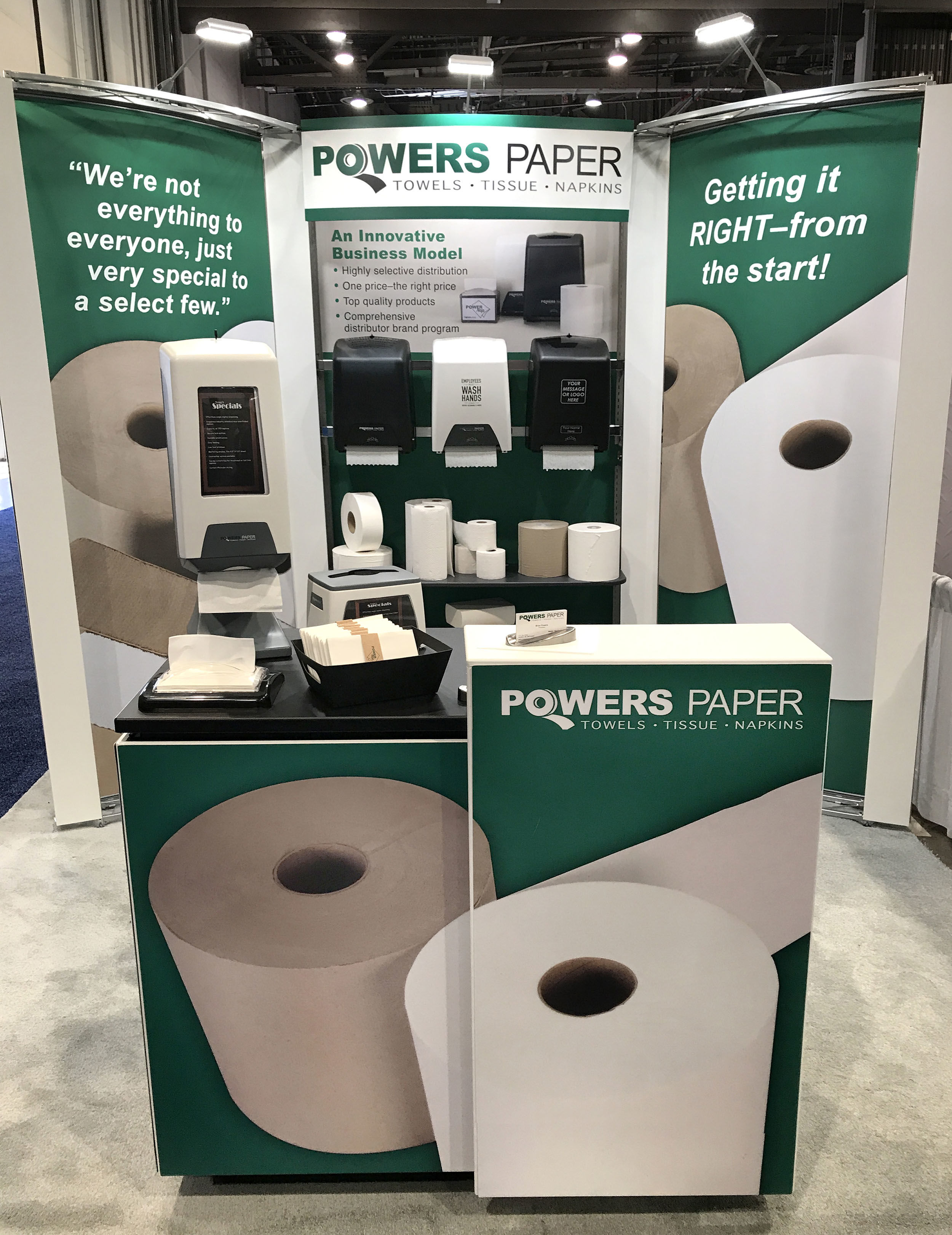Powers Paper Booth Art