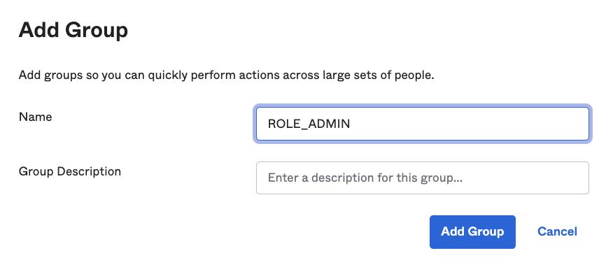 Okta create ROLE_ADMIN group