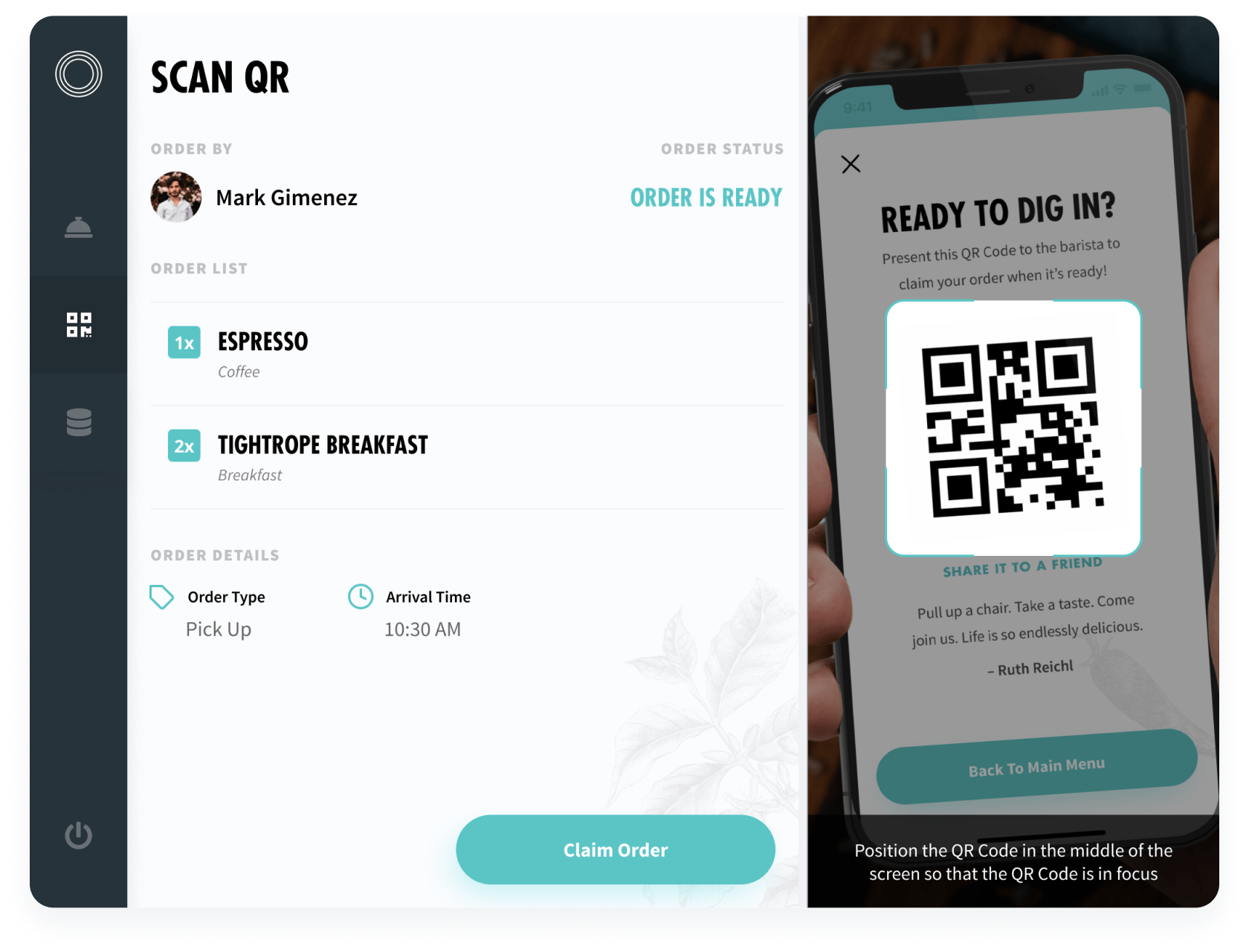Scan QR Screen