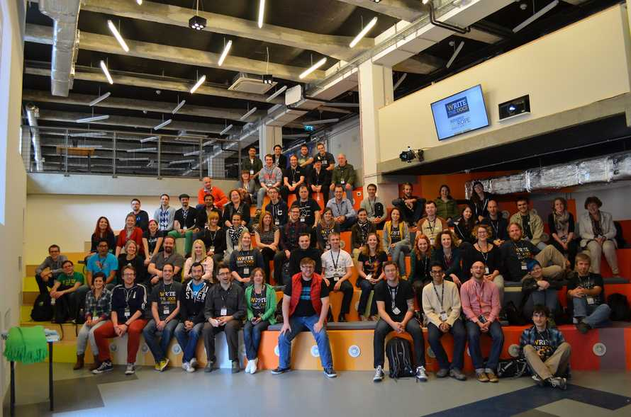 Write the Docs group photo