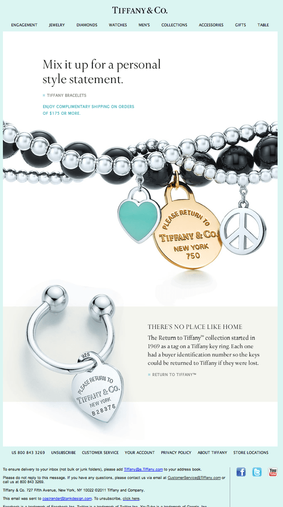 Tiffany & co emails