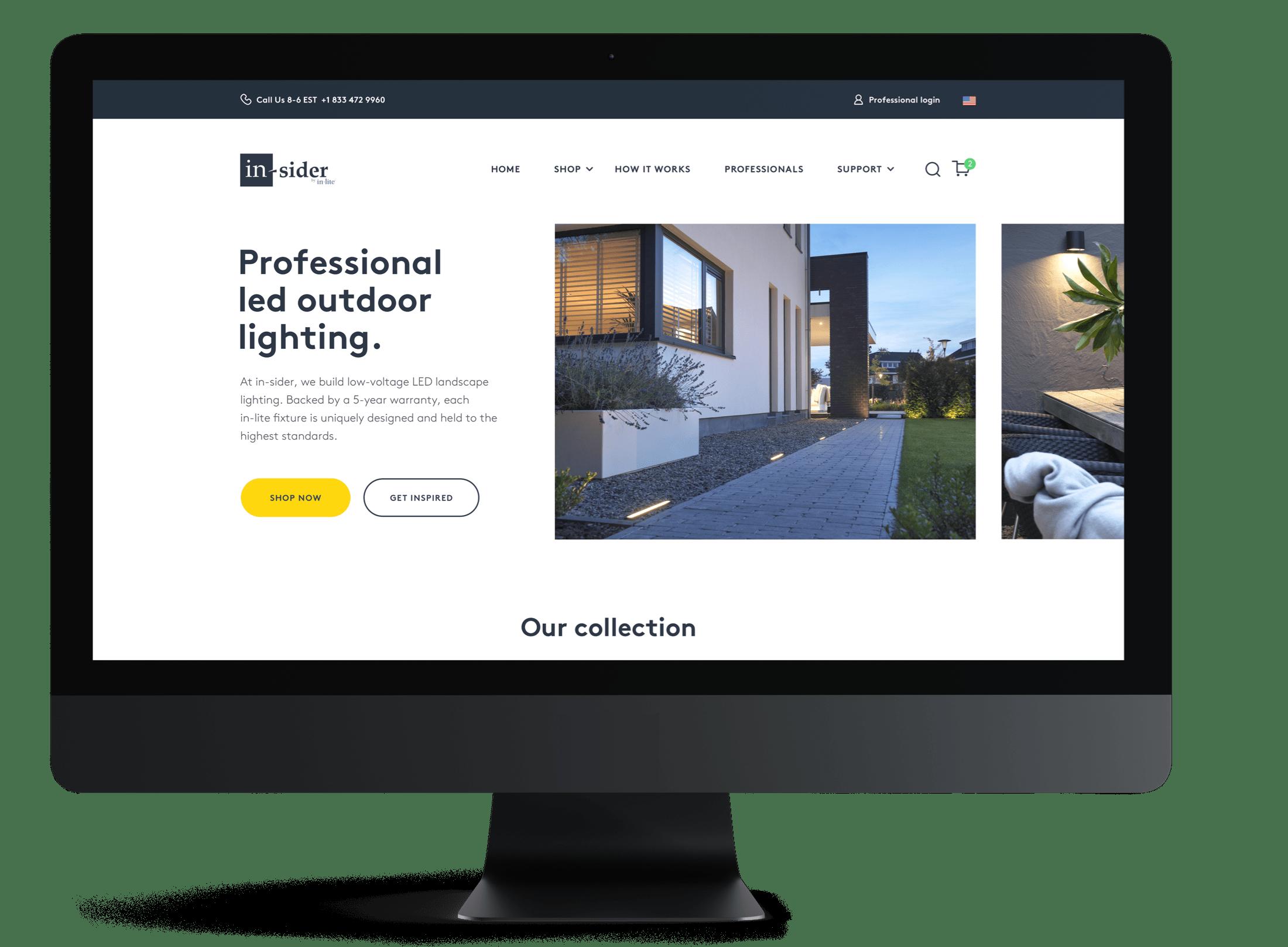 In-Sider websshop op desktop