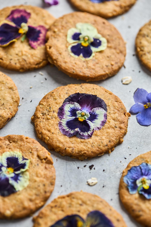 Lemon Earl Grey Shortbread Oatmeal Cookies