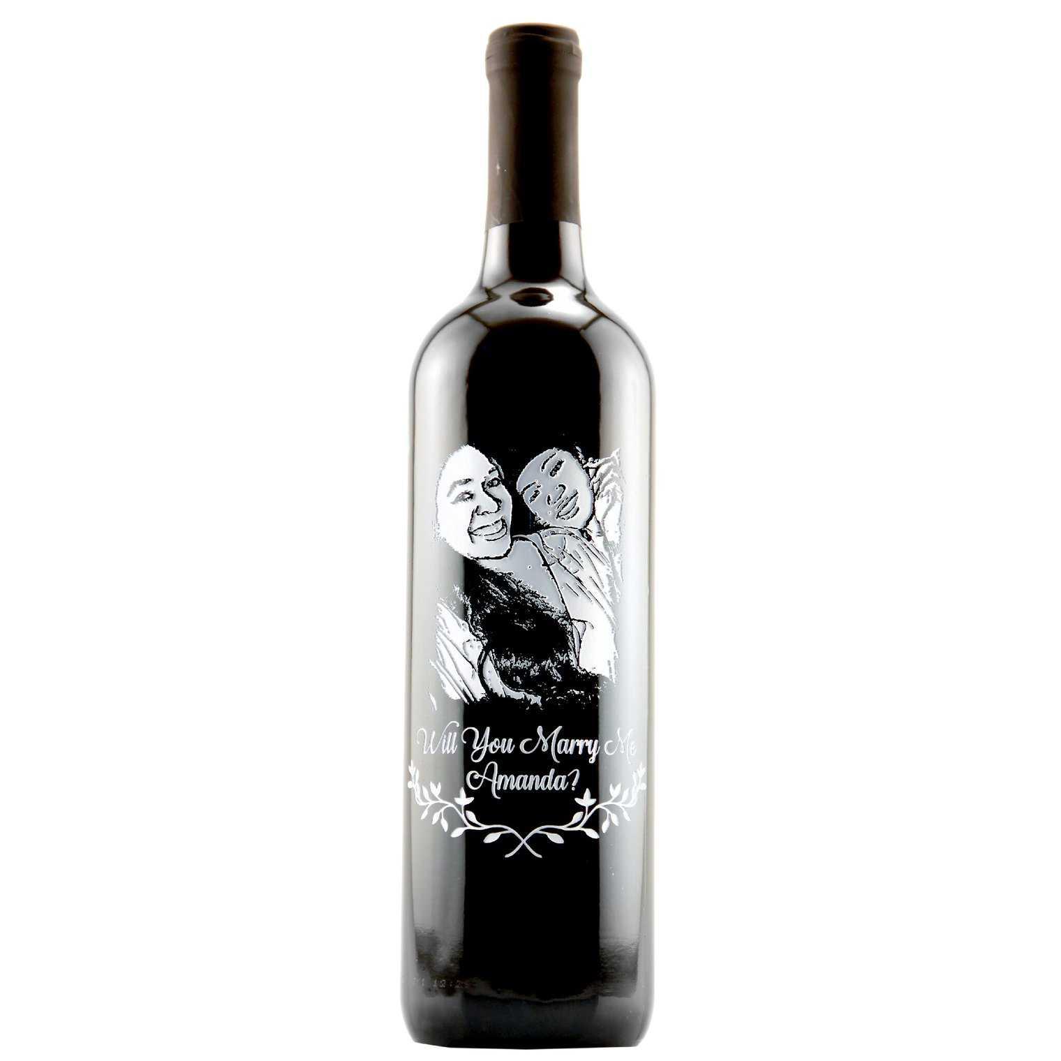 Will you marry me? custom wine bottle
