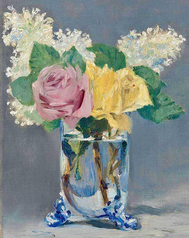 Manet's Lilas et Roses sold for almost $13 million in New York in May 2018.