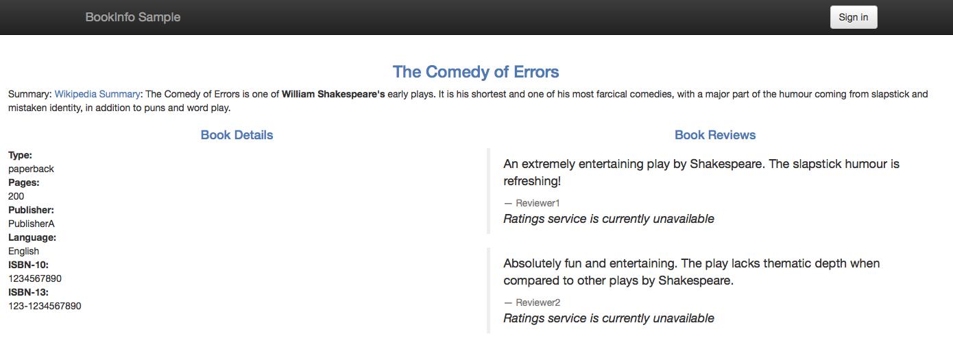 Ratings 服务的错误信息