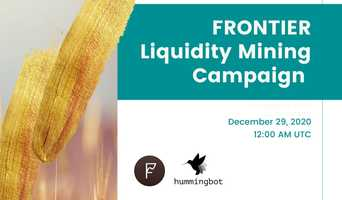 Launching Frontier liquidity mining campaign