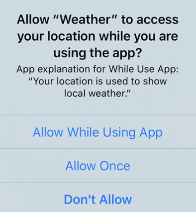 Weather App Access