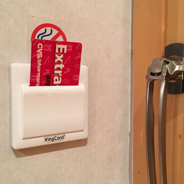 I stuck my CVS card in the slot to keep my hotel room's power on when I wasn't there.