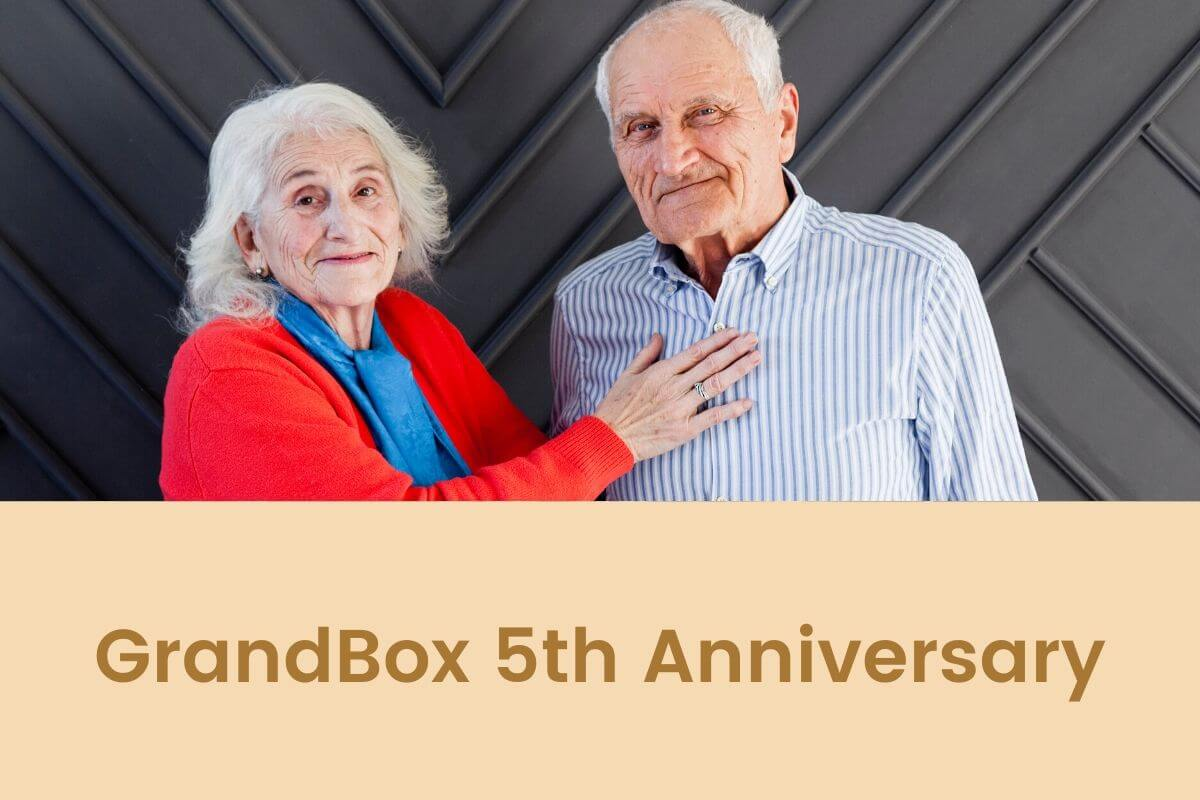 GrandBox Celebrates It's 5th anniversary As The Original Subscription Box for Seniors and Grandparents.- Featured Shot