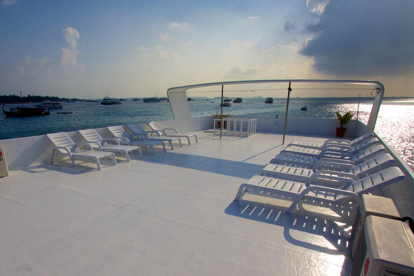 Blue Star Open Boat Surf Charter Maldives Sundeck