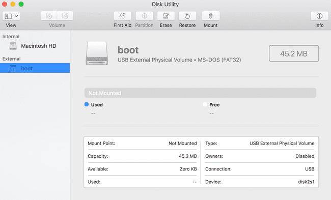 Disk Utility UI