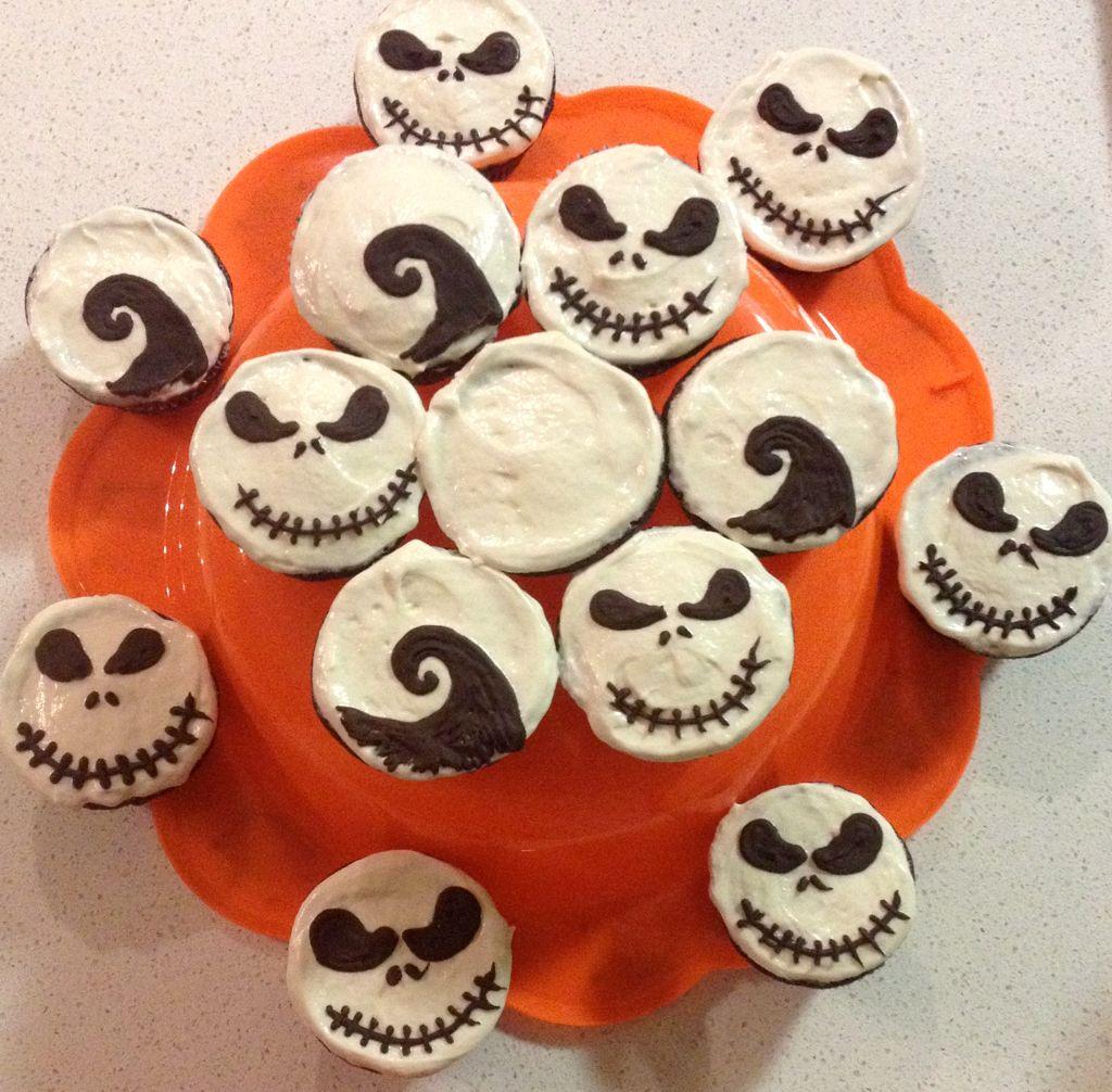 vegan Nightmare before Christmas cupcakes