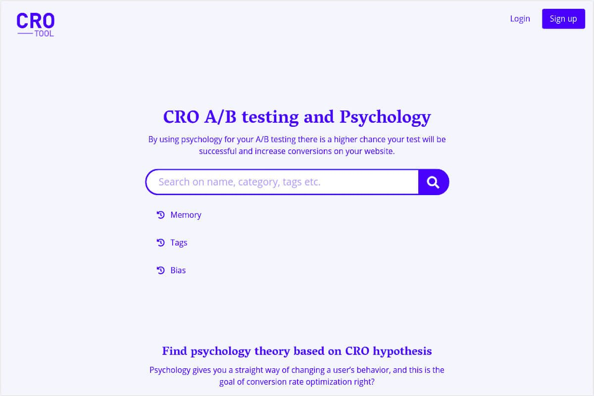 """Cro tool homepage"""