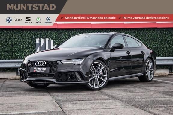 Audi RS7 4.0 TFSI RS7 605 pk quattro performance   Pano-dak   RS dynamic plus pakket   B&O Advanced sound system   Carbon optiekpakket   360 camera   Adapt. cruise   Sportdifferentieel  