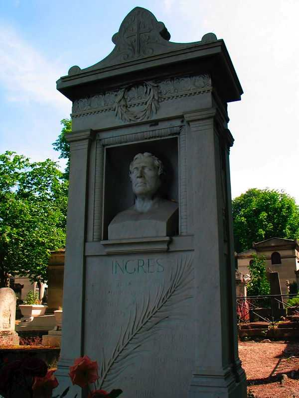 The tomb of Ingres in the cemetery of Père Lachaise in Paris. (© Fernando González del Cueto, CC BY-SA 3.0)