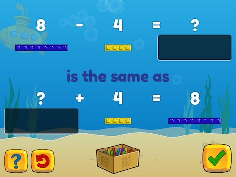Forward, Backward: Subtraction as an unknown addend problem within 10 Math Game