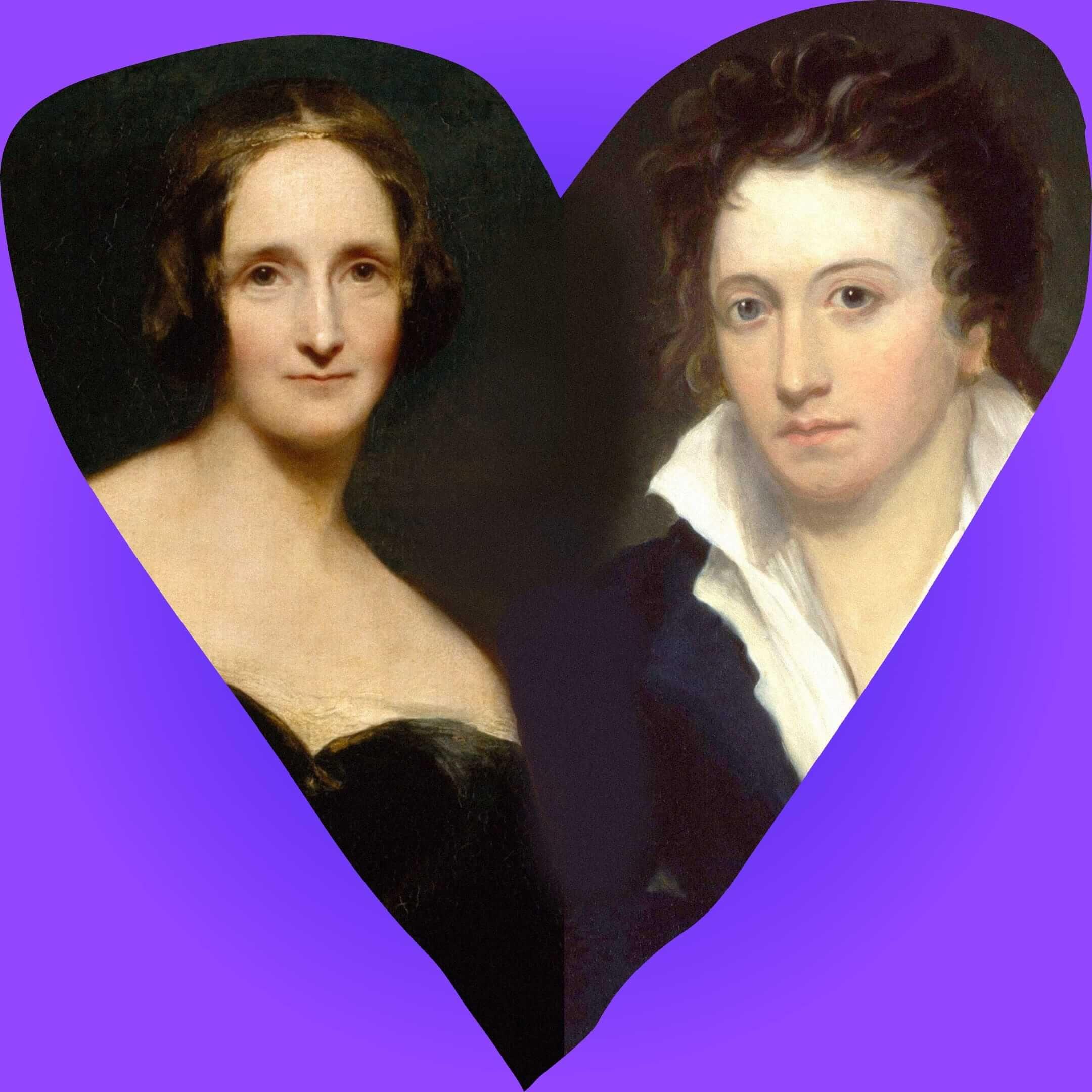 Коллаж изпортретов Мэри Шелли (художник Ричард Ротвелл, 1840год) и Перси Шелли (художник Альфред Клинт, 1819год). Иллюстрация: Букмейт