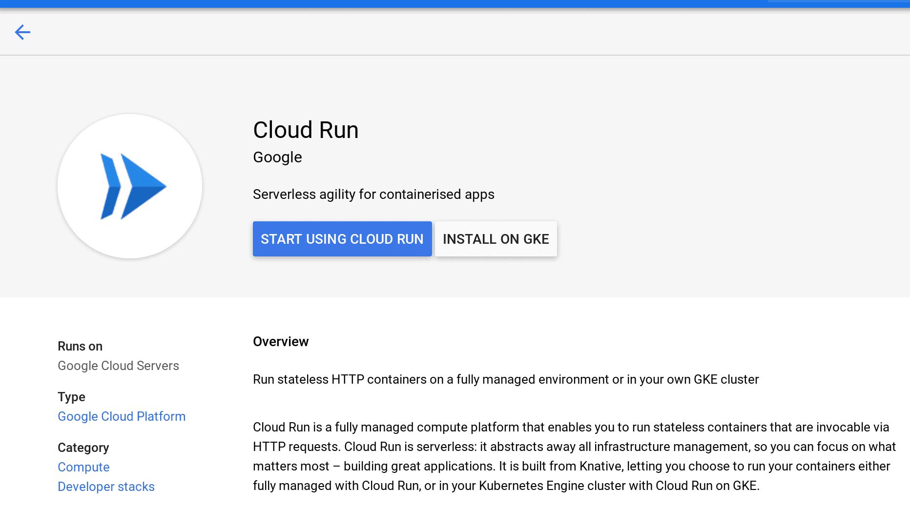 cloud run enable