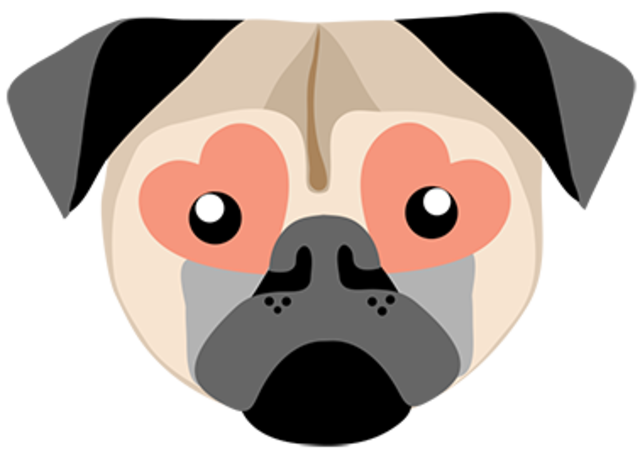 Image from the post Pug Love Sticker Pack launching!