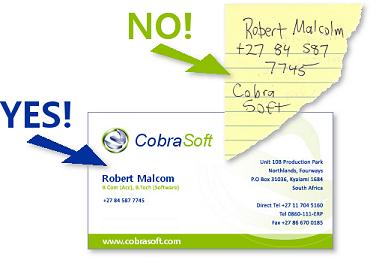 Business Card vs. Scrap of Paper