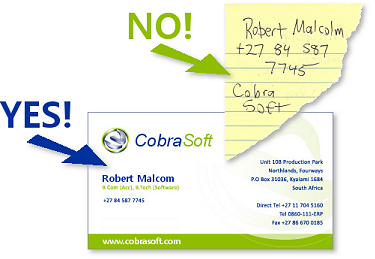 Business Card vs. Scrap of Paper