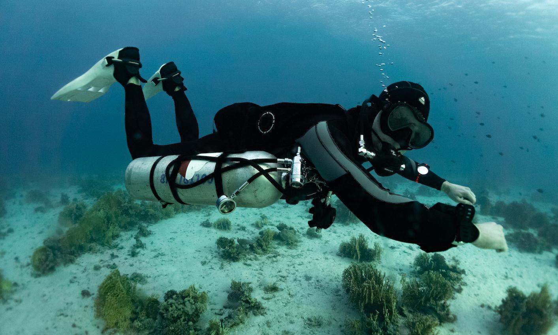 Sidemount diving in Egypt
