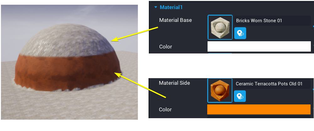 Side Material Example