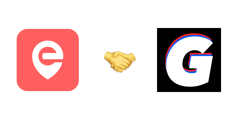Die Logos von Eddress und Gorillas, dazwischen das Händeschüttel-Emoji