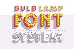 Layered font set 3D Bulblamp images/promo_Bulblamp_1_3.jpg