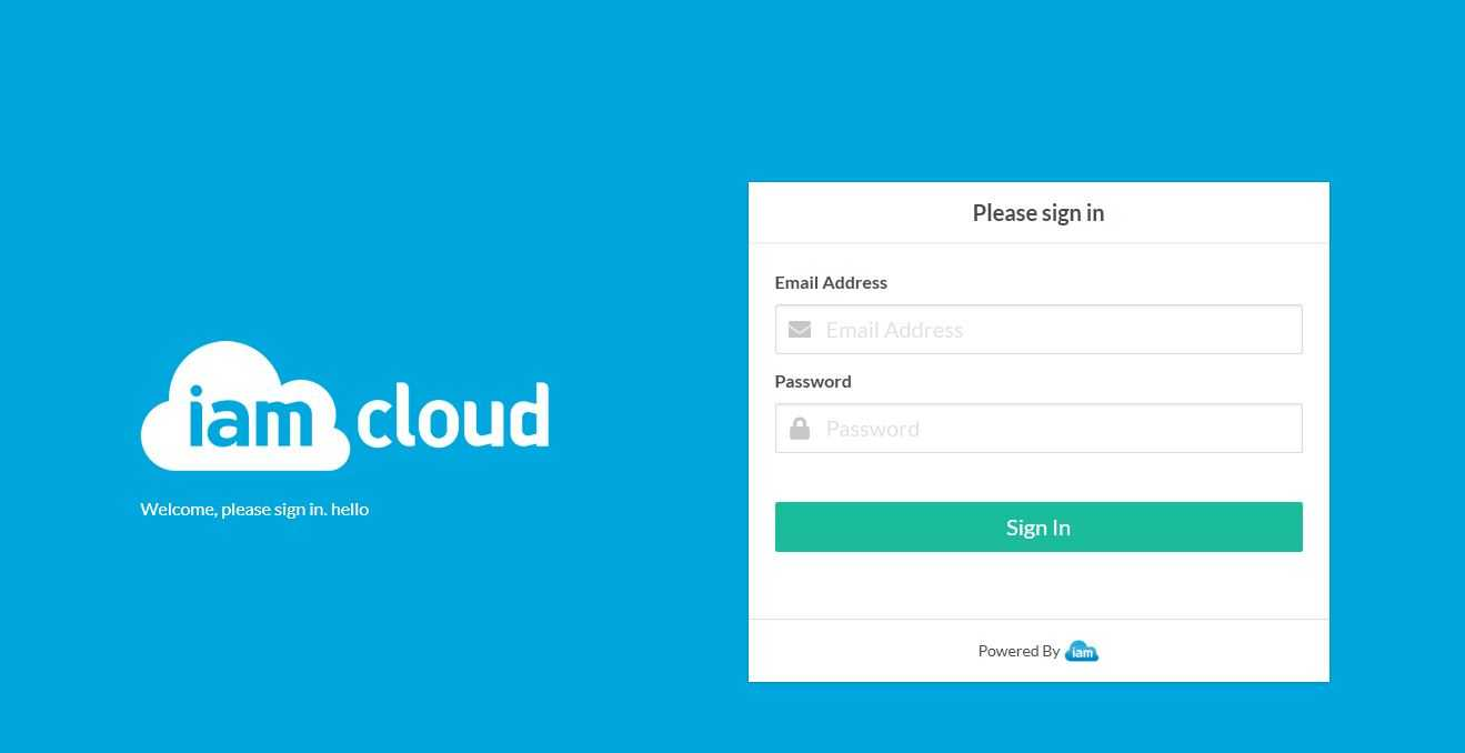 IAM Cloud SSO redesign mock up