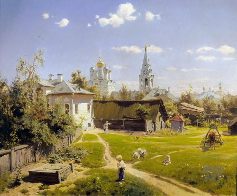 Василий Поленов «Московский дворик», 1878