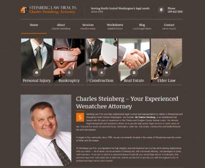 Home page of the Steinberg Law website