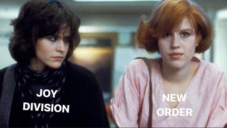 A Breakfast Club - Joy Division mashup.