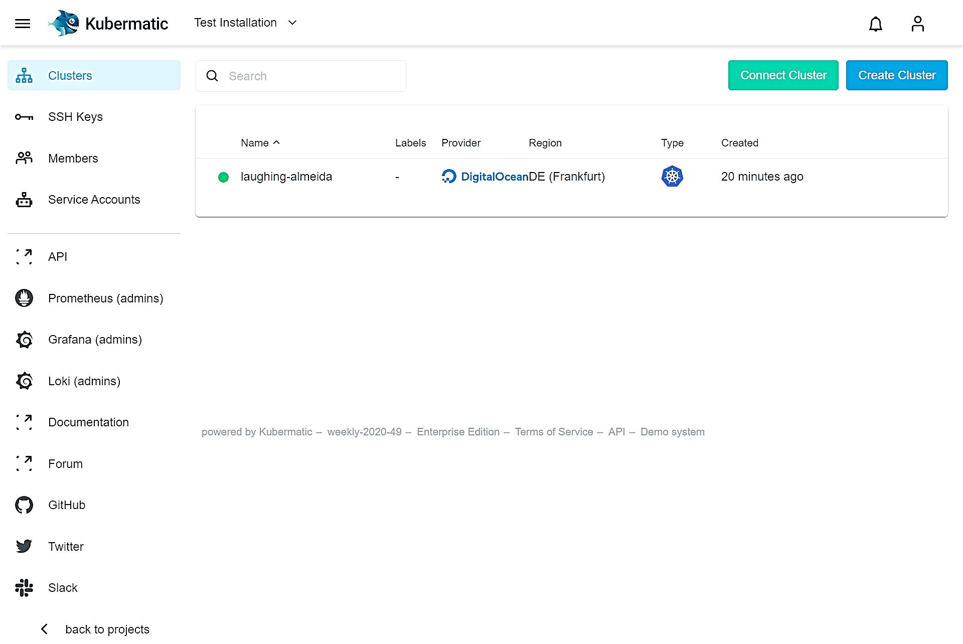 Kubermatic Kubernetes Platform_Managing Clusters
