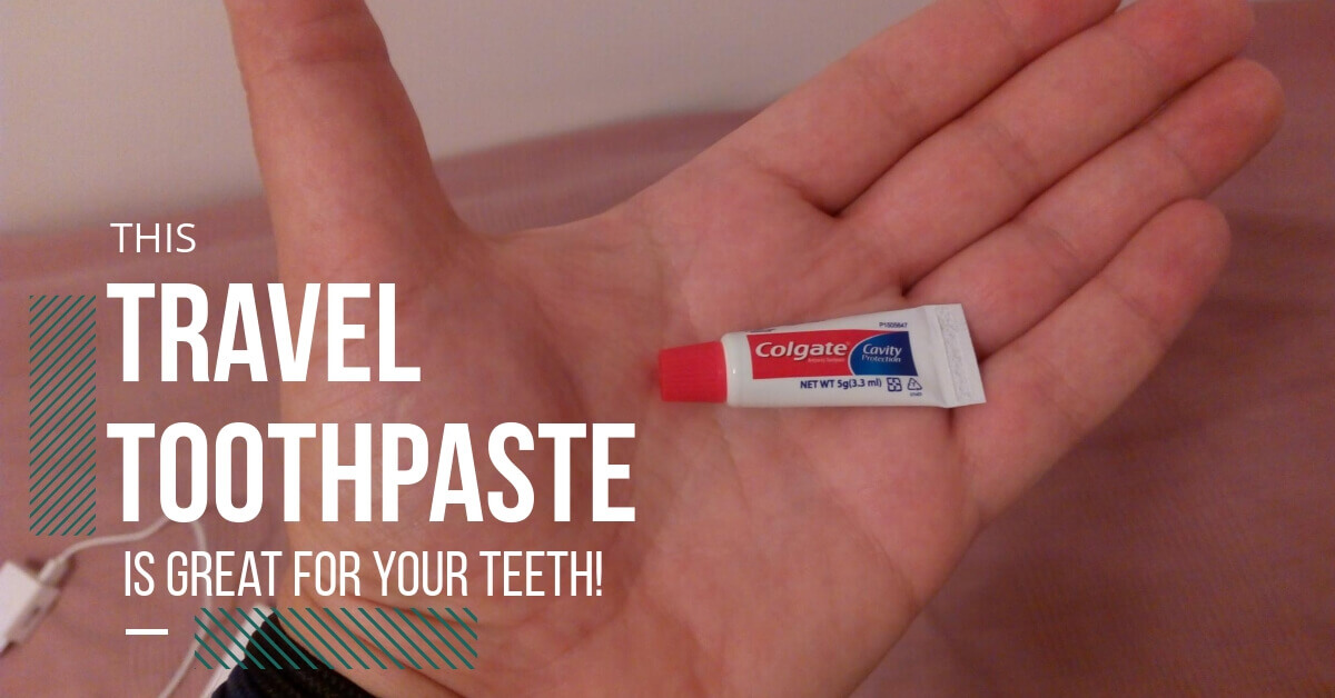 Pearly White Teeth and Mint Fresh Breath With Travel Sized Toothpaste
